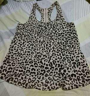 F21 Animal Print Blouse