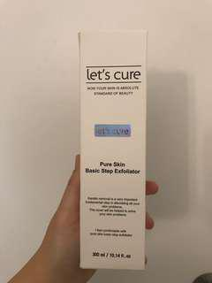 Let's cure pure skin basic step exfoliator