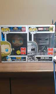 SDCC Odin Force Thor and Mark 1 Iron Man Funko Pop!