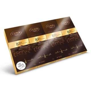CÉMOI 82% 黑巧克力 100公克 X 4入