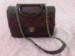 Chanel Preloved Burgundy Handbag