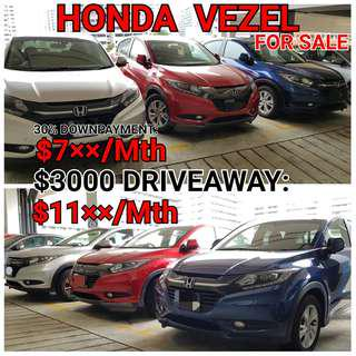 Honda Vezel. Rental or For Sale. 💯% LOAN APPROVAL.