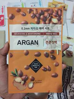 Sheet mask argan