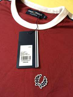 Fred Perry Taped Ringer T-Shirt Size S BNWT