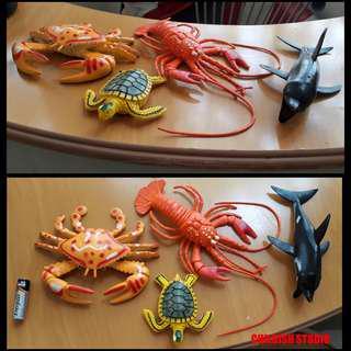 Lot Of Four SEA LIFE Toys.
