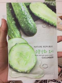 Sheet mask cucumber