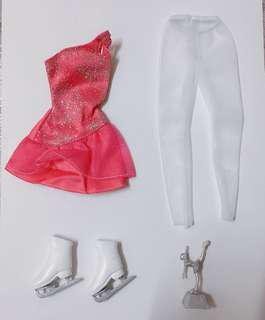 Barbie ice skating clothes set