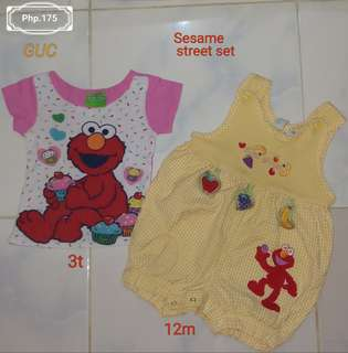 Elmo set for 1-3yrs old