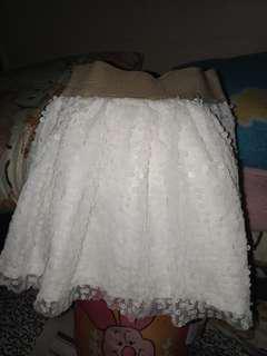 Off white sequin skirt