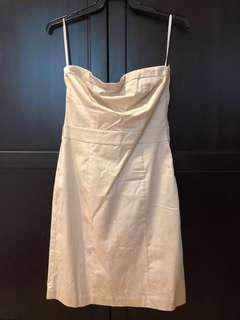 BNWT H&M beige strapless dress