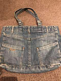 Denim shoulder bags