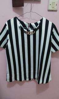 Office Blouse Zebra stripes