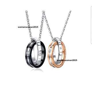 Titanium Couple Necklace (sold pair or separately)