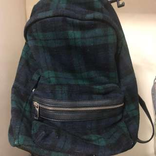 UPDATED FOREVER 21 BACKPACK PLAID GREEN