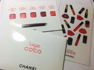 Rouge Coco Chanel lipgloss(with free stickers)