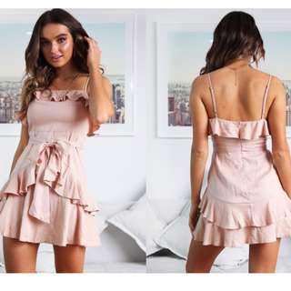Pink Frilled Dress