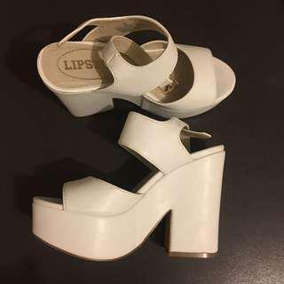 Lipstik block heels | size 5