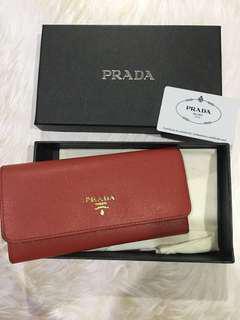 Prada Red Wallet