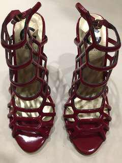 G By Guess Red Caged-Like Heels Size US 5.5M