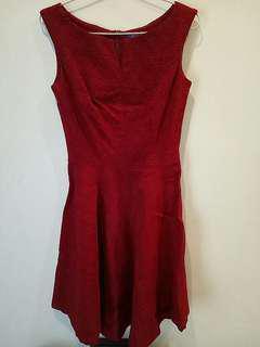Arithalia Maroon Dress