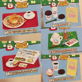 Hello Kitty Re-ment Coffee Shop (5 sets)