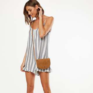 Cotton On Woven Lily Strappy Frill Playsuit Romper XXS