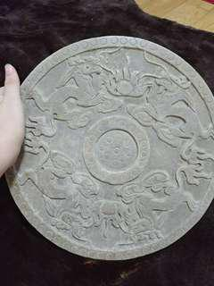 Dragon engraved stone tablet