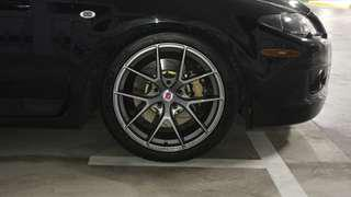 HRE replica wheels 18""