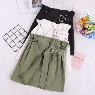 🆕 READY STOCK BELT SKIRT