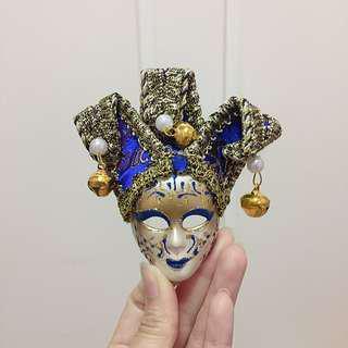 面具磁石/掛飾(藍色)