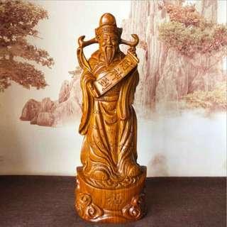 財神 花梨木 雕刻 木雕 開運 風水 避邪 鎮宅 擺件 佛像