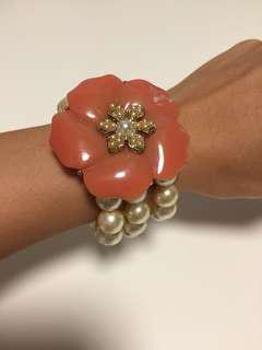 Vintage Flower Pearl Bracelet