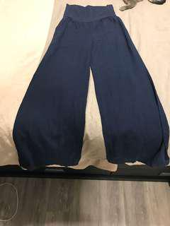 Linen navy wide pants from Anthropologie size XS - never worn