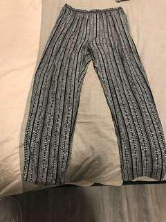 Soft wide pants from Somewhere In Between - worn one size M