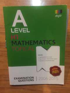 A LEVEL H1 MATHEMATICS TOPICAL EXAM QNS