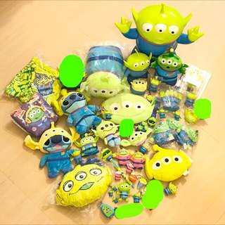 迪士尼 三眼仔 公仔 擺設 disney toy story pixar alien charm figure toys doll