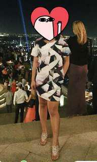 Geometric style shift dress