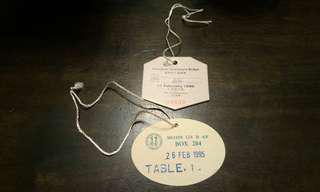 1995年香港賽馬會會員席入場證及廂房章
