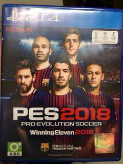 PES2018 中英文版 二手 ps4 pes 2018