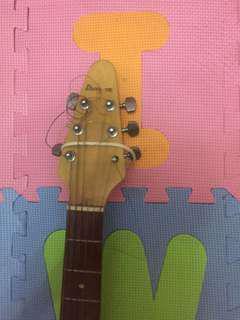 V shaped electric guitar