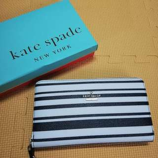 Kate spade wallet stripe