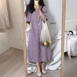 [BNWT] purple korea dress