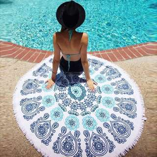 Beach Towel Round Tapestry