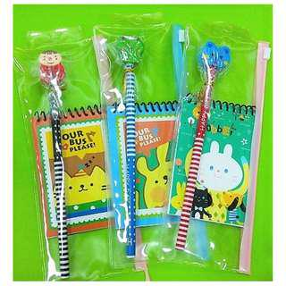 Pencil & Notepad in Zipper Holder Pack