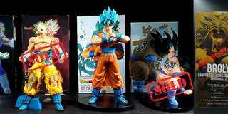 Dragonball Z: K.O. Action Figures: LAST 2 REMAINING!! Super Saiyans Blue Goku and Broly