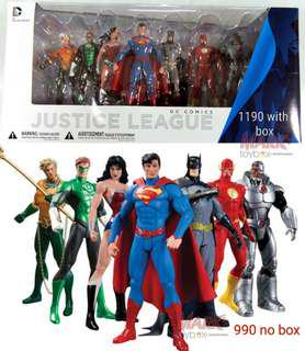 DC Heroes: Justice League pack 7-pc action figures Box Set K.O. Collectibles