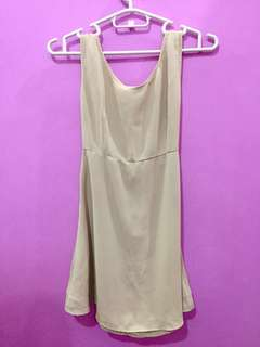 DKNY Donna Karan New York Nude Mini Dress