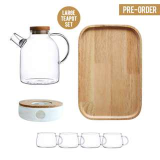 [PO] Japanese Style Large Glass Teapot Set