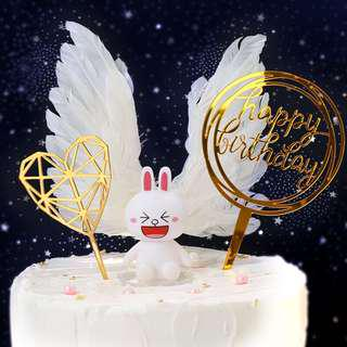 蛋糕插牌(硬膠質地可再用)Cake decorating