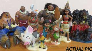 Disney Moana Deluxe figures 10 pcs Toy set collectibles/ Cake Toppers for your themed children party